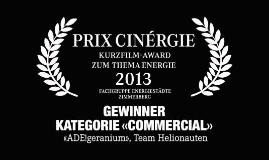 Prix Cinergie ADE!geranium